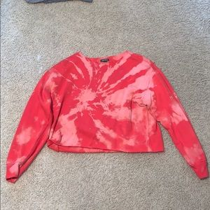 custom bleach tye dye cropped sweatshirt